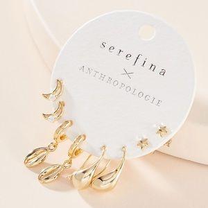 Anthropologie 4 Pack Earrings Set (NWT!)